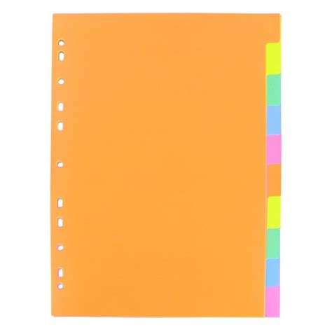 Pen Paper Inter X Folder Index Divider 5 Tabs A4 coloured a4 subject dividers 10 tabs