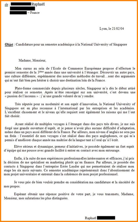 Exemple Lettre De Motivation Ecole De Commerce Master 7 Lettre De Motivation 233 Cole De Commerce Lettre De Preavis