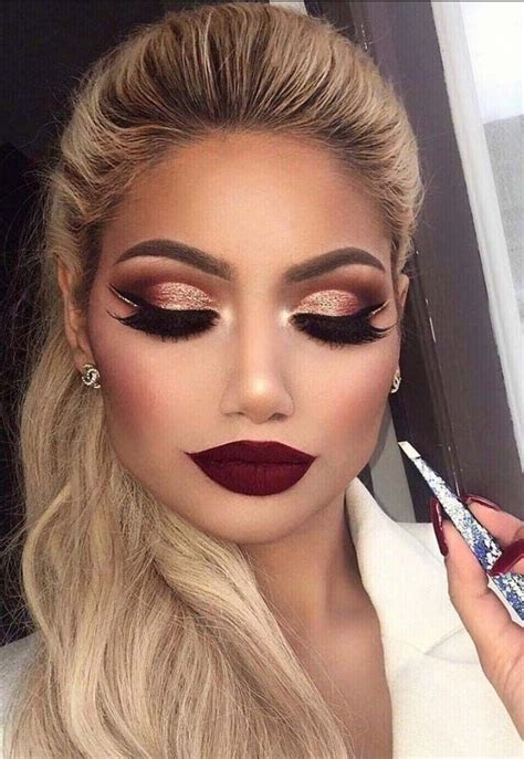 Eyeshadow For Dress brown and gold cut crease with a lip makeup mua make up