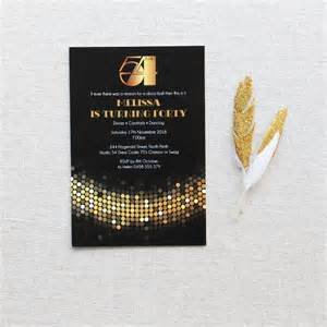 STUDIO 54 BIRTHDAY INVITATION