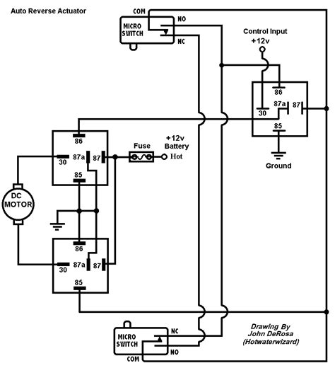 linear actuator limit switch wiring diagram wiring