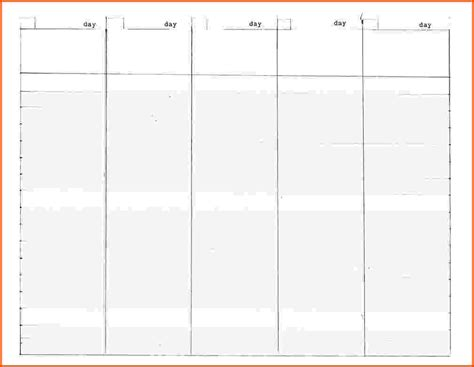 5 Week Calendar Template 5 day calendar template pictures to pin on