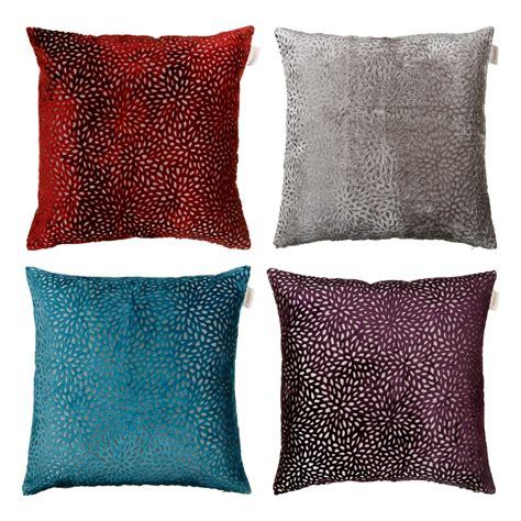 Oversized Cushions by Westminster Velvet Oversized Cushion Silver Cushions B M