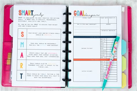 health fitness planner to track your fitness goals desene i idei