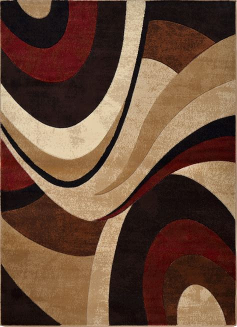 Contemporary Area Rugs 9 X 12 Modern Brown Area Rug 9x12 Contemporary Waves