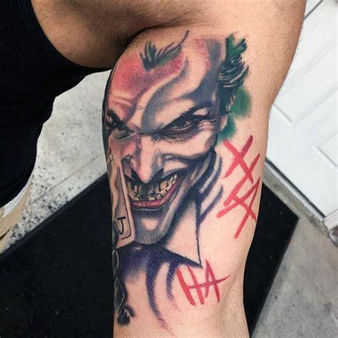Joker Tattoo On Biceps | 100 batman tattoos for men superhero ink designs