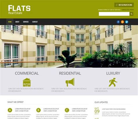 Real Estate Web Design Templates Codebluesolutions Com Real Estate Responsive Website Templates Free