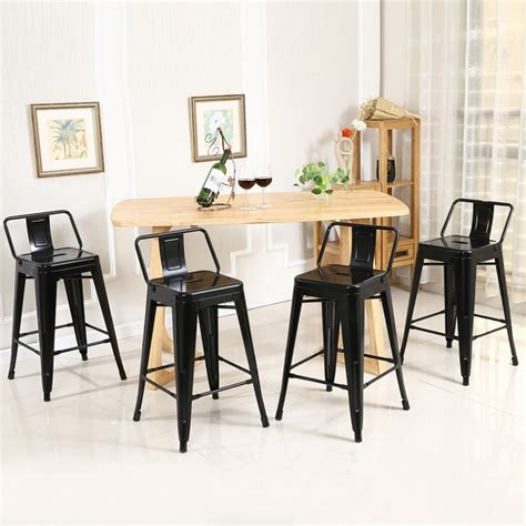 24 Inch Counter Height Stools by Low Back Indoor Outdoor Counter Height Stools Set Of 4