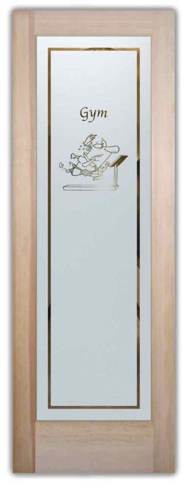 Front Door Fitness Treadmill Etched Glass Front Doors Recreation Design