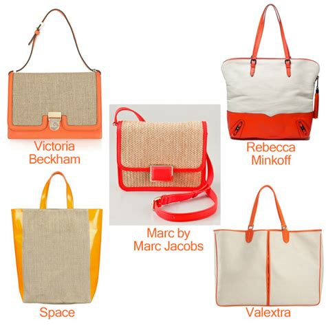 Bag Beckham Beky 8818 victoriabeckham space marcbymarcjacobs valextra rebeccaminkoff orange canvas bag snob essentials