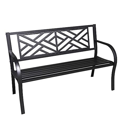 cast iron park benches buy maze cast iron park bench from bed bath beyond
