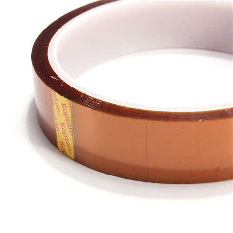 Lakban Isolasi High Temperature Thermal Kapton 20mm 100ft Gold Kapton High Temperature Heat Resistant Polyimide Bga G
