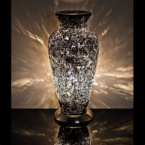 Large Vase With Lights by Black Mosaic Vase L Style 3