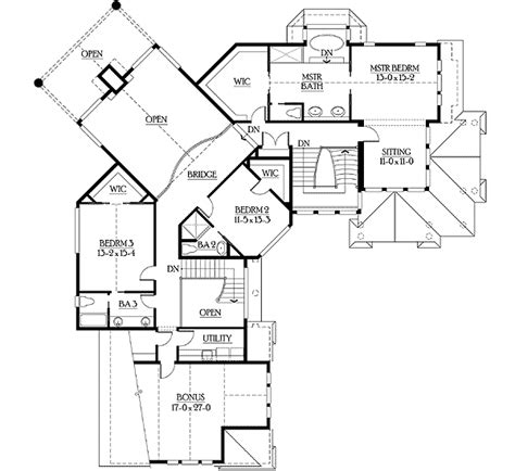 unique floor plan with central turret 23183jd 2nd floor master suite bonus room butler