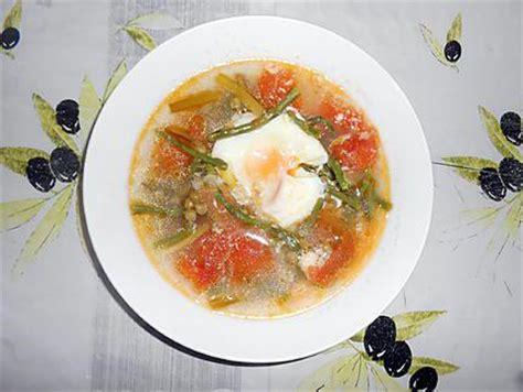 recette de potage aux asperges sauvages petits pois et oeufs