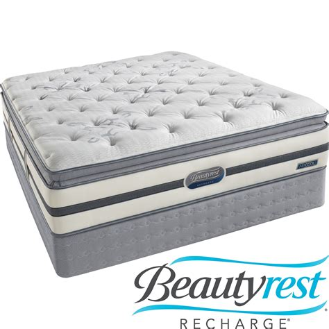 queen size pillow top bed beautyrest recharge spalding luxury firm queen mattress