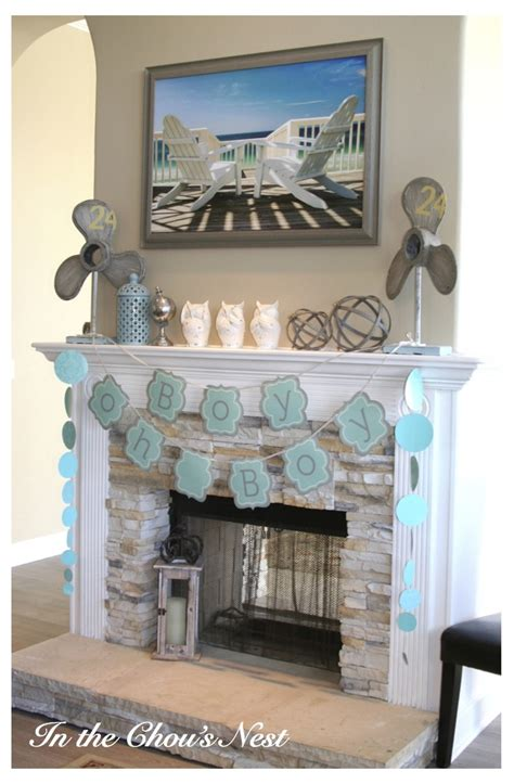 chimney decoration ideas boy baby shower decorations for fireplace mantel time to