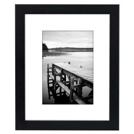 10 X 10 Wood Picture Frame W Mat by Americanflat 8x10 Black Picture Frame Made To Display