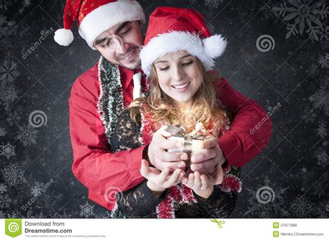 gf crismax imeg boy give a gift to stock photo image 27977888