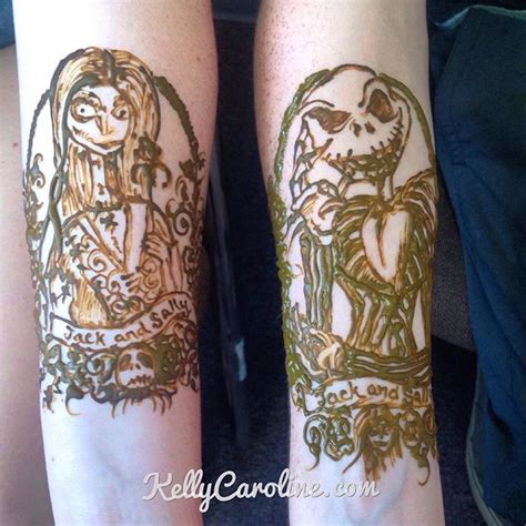 nightmare before christmas couple tattoos studio archives caroline caroline