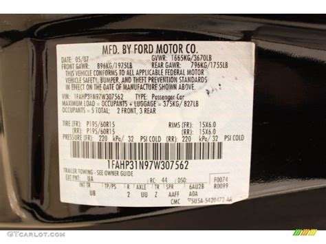 2007 focus color code ua for pitch black photo 54673956 gtcarlot