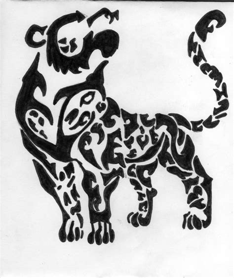 tribal cheetah tattoos leopard images designs