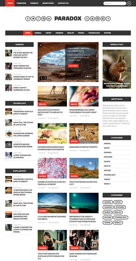 wordpress unique layout new modern style responsive wordpress themes wordpress