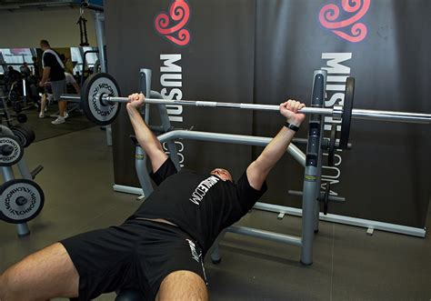big bench press workout wide grip barbell bench press musqle
