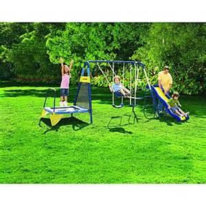 sportspower jump n swing metal backyard swing set