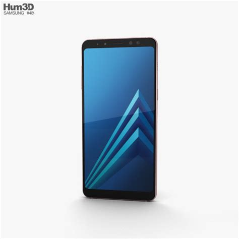 Samsung Galaxy A8 Blue samsung galaxy a8 2018 blue 3d model hum3d
