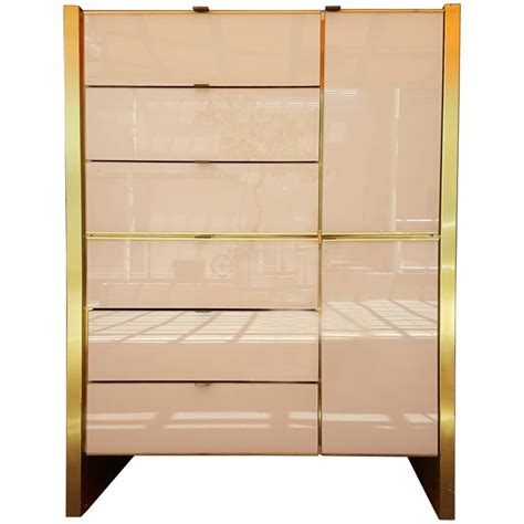 Glass Dressers Furniture by Glass And Brass Dresser By Ello Furniture At 1stdibs