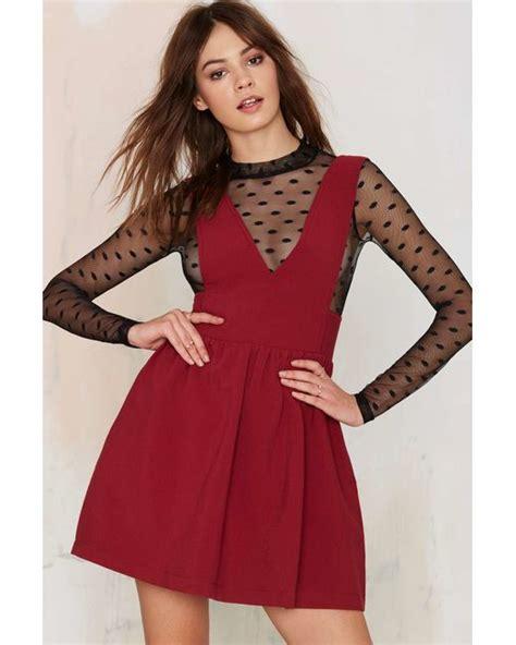 teresa caputo black white red dress nasty gal teresa plunging mini dress red in red save