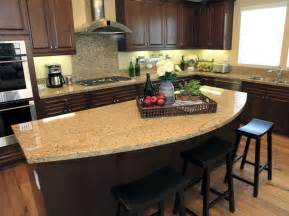 Rounded Kitchen Island rounded granite counter top kitchen island