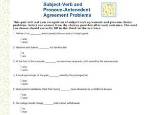 subject verb agreement worksheets 8th grade