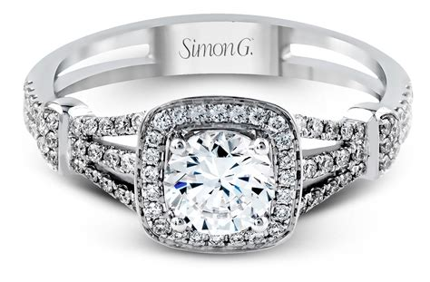 simon g vintage look halo engagement ring tr418