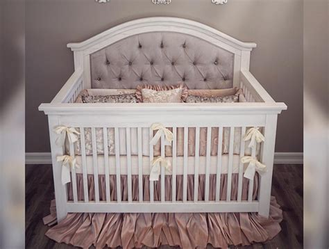 Handmade Cribs - custom tufted convertible crib furniture in