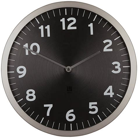 modern wall clock umbra contemporary wall clock in wall clocks