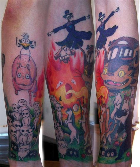 studio ghibli tattoo ghibli sleeve in progress by munkeebutt on deviantart