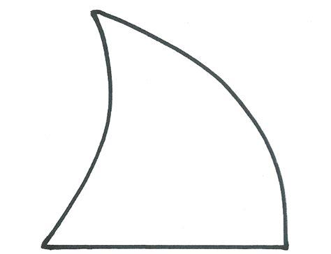shark fin coloring page shark week megalodon sugar cookie design sprinkle