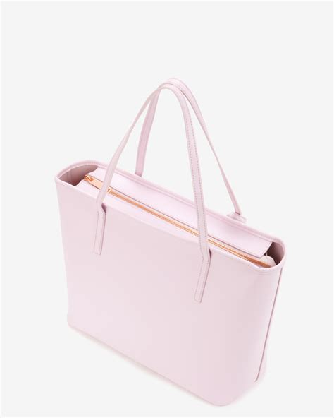 Benefit I Pink I You Bag lyst ted baker bow detail leather shopper bag in pink