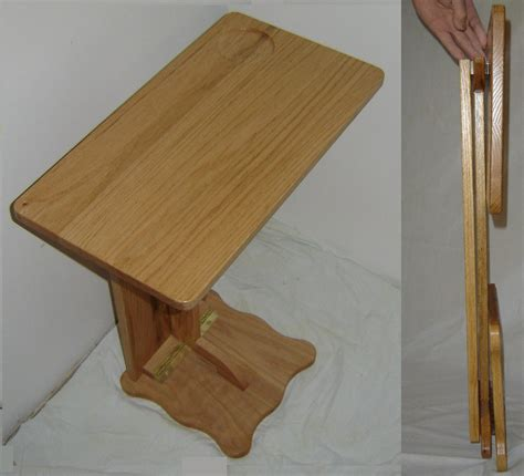 sofa server tray table new solid oak wood folding sofa server tv rv snack tray