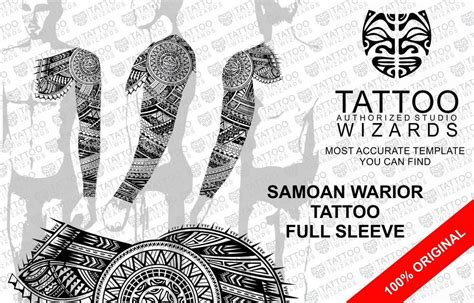 maori samoan polynesian warrior full sleeve tattoo stencil