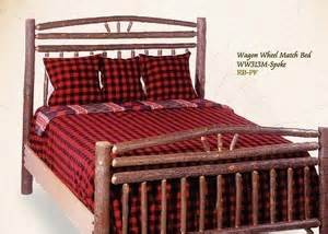 wagon wheel headboard wagon wheel headboard hickory log furniture