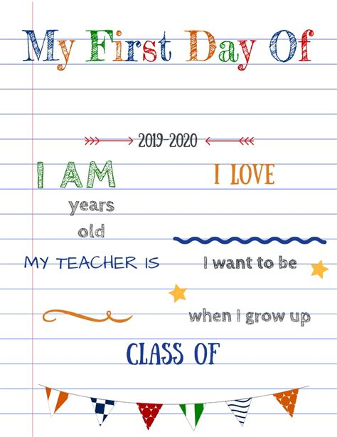 Editable First Day Of School Signs To Edit And Download For Free School Sign Template