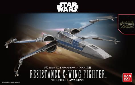 Wars Blue Squadron Resistance X Wing Fighter Bandai wars awakening 1 72 resistance x wing fighter