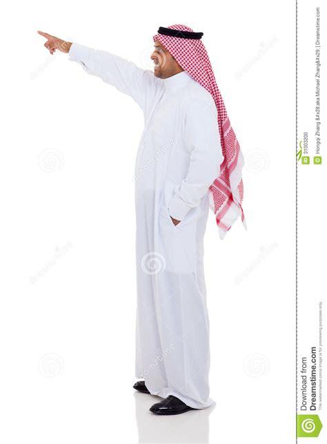 Arabian Man Pointing Stock Photo   Image: 31003200