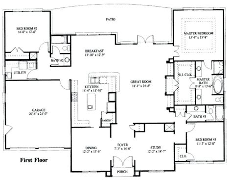 2000 sq ft house plans one story baby nursery single story house plans 2000 sq ft simple