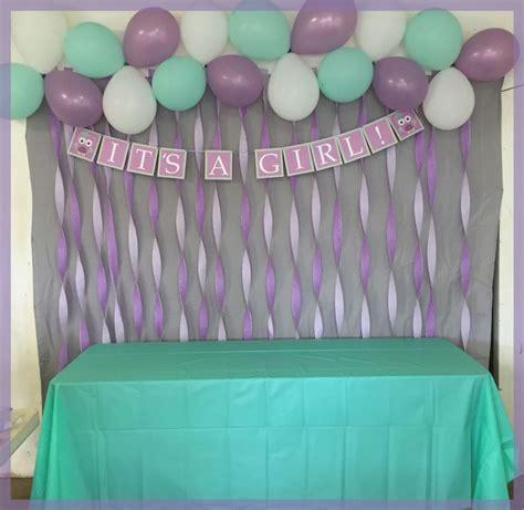 baby shower colors lavender mint owl themed baby shower streamer back