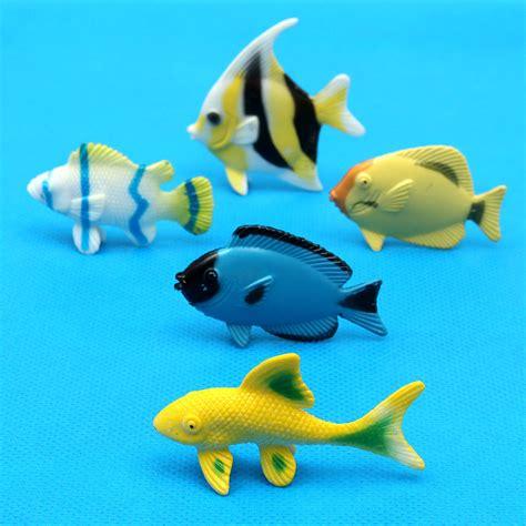 Wisebuy 12 New Plastic Animals Figures Set With Coconut Tree 12pcs plastic marine animal figures creatures