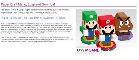 Mario Luigi Paper Jam Papercraft Templates Released Gaming Reinvented Jam Paper Templates
